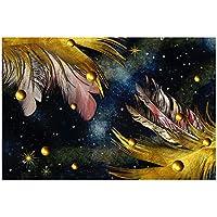 アート写真プリントアートフェザーパールキャンバス絵画壁アートポスタープリント壁の写真リビングルームの家の壁の装飾50x70cmフレームレス