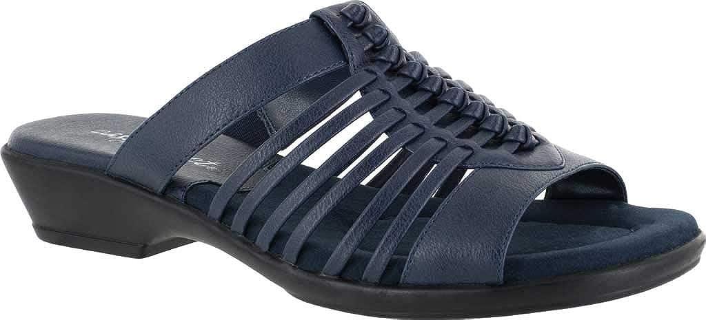 Easy Street Womens Nola Woven Slide Sandals Sandals Casual - Blue - Size 8 B