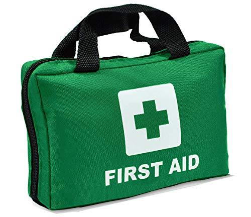Bolsa de primeros auxilios con cremallera vacía bolsa de rescate de viaje de primera respuesta organizador de medicina para emergencias (solo bolsa) (verde)