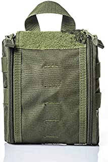 Jipemtra MOLLE EMT IFAK Pouch Tactical First Aid Bag Trauma First Aid Responder Medical Bag Utility Bag Military Tactical ...
