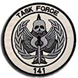 Call of Duty Task Force 141 Elite SAS Team Member 3D Tactical Patch Military Embroidered Morale Tags Badge Embroidered Patch DIY Applique Shoulder Patch Embroidery Gift Patch