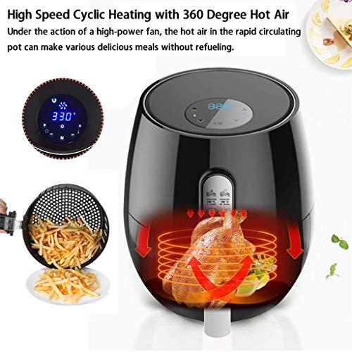 51BjY5yvvGL. SL500  - YFGQBCP 1350W Air Friteusen mit abnehmbarem Korb, Intelligent Timer und Voll einstellbare Temperaturregelung for gesundes Öl & Low Fat Kochen, 4.5L Pan mit 3.6L Basket