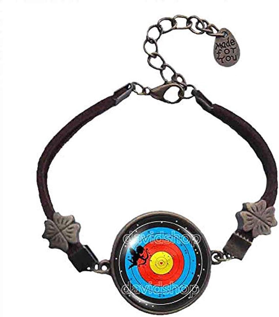 Fashion Jewelry Archery Target Bracelet Bow Cupid Arrow Heart Angel Love Cosplay