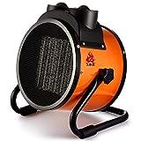 Calentador de Aire portátil Industrial Especial, calefacción de cerámica, termostato autónomo, secador portátil, 5000 vatios, Negro, 190 * 255 * 285 mm (Tamaño : 220v/10A/2000W)