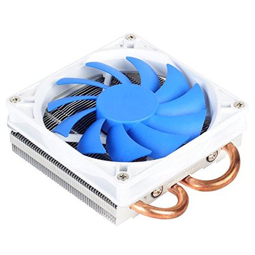 Silverstone Tek Low-Profile-Kühlkörper CPU-Kühler mit 92 mm PWM-Lüfter, zwei 6 mm Heizleitungen, Intel LGA1155/1156/1150 und AMD AM2/AM3/FM1/FM2 AR05