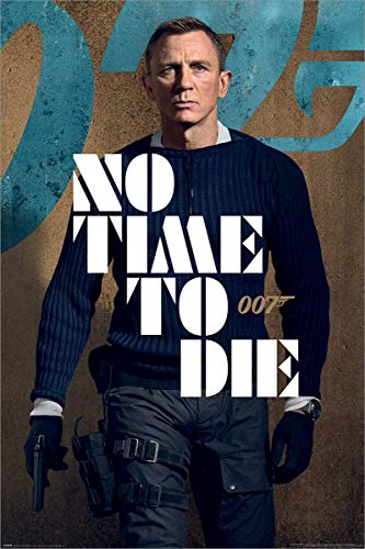 James Bond No Time To Die James Stance Maxi Poster 61x91.5cm Laminato