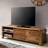 KADIMA DESIGN Lowboard Teko Massivholz Sheesham Kommode 140 cm tv-Board Landhaus tv-M?Bel