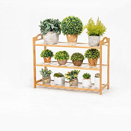 MLHJ NNIU- Multifonctionnel Balcon Fleur Racks Solide Bois Salon Pots De Fleurs Simple Multi-étages Étagère De Fleur (Taille : 70 * 26 * 50cm)