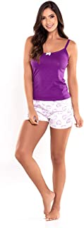 Provocame Women's Lightweight Pajama T-Shirt and Shorts Sleepwear Set S-XL