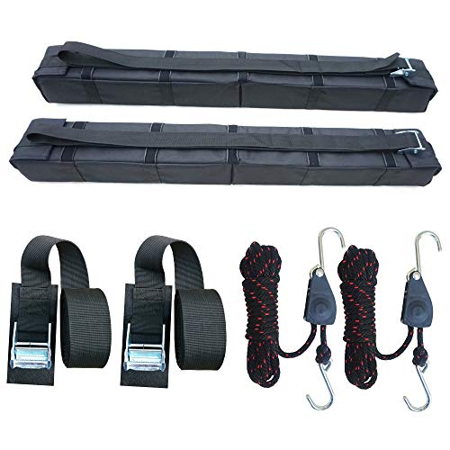 Surfboard Black//Blue//Red Pair Cargo Roof Rack Straps 15 Feet SUP Board LINGVUM Tie Down Cam Straps for Kayak Canoe