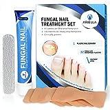 Ariella Nail Fungus Tratamiento de Uñas Fungal, Set de Tratamiento de Uñas para Reparación de Uñas, Tratamiento de Infección por hongos, Reparación y Protege de la Descoloración - Ungüento, Enlucidos Impermeables 32 Piezas