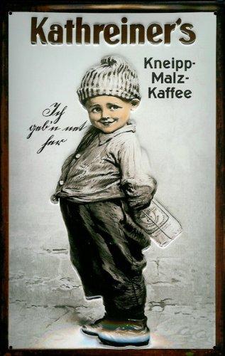 Buddel-Bini Versand Blechschild Nostalgieschild Kathreiner's Kneipp Malz Kaffee Malzkaffee Vintage Schild Reklameschild