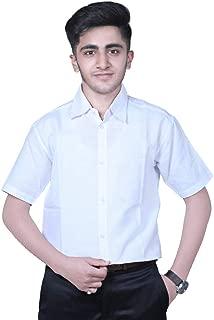 JAYLO KHADI Men's Khadi Cotton Half Sleeve Regular Fit Shirt Plain