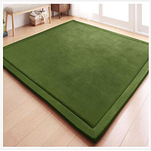 Eanpet Soft Tatami Mat 5' x 7' Area Rug Pad Non-Slip Memory Foam Carpet Large Playmats for Kids Crawling Mat Anti-Skid Doormats Living Room Bedroom Mat Women Gym Mat Olive Green