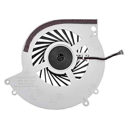 Ventilador de refrigeración PS4, pieza de repuesto portátil Ventilador de refrigeración interno de la CPU del ABS con placa base de metal Refrigeración suficiente para las consolas de juegos PS4-1000