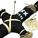 Wanga Doll Black - Authentische Voodoo Puppe mit Nadel und Ritualanleitung - Schadenszauber