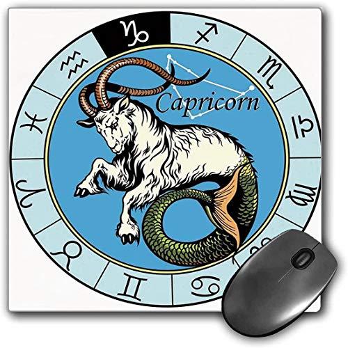 Mouse Pad Gaming Funcional Astrología Alfombrilla de ratón gruesa impermeable para escritorio Ilustración antigua del icono de Capricornio con signos Mitología Diseño griego de Saturno Decorativo,Mult
