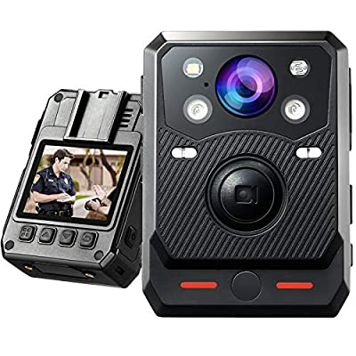BOBLOV New B20 Body Camera Full 1080p Police Body Camera Removable SDCard Up to 128G Support Night Vision and Red/Blue Light for Police Patrol Security Stuff Big Rec Button (Card not Include by BOBLOV-B20
