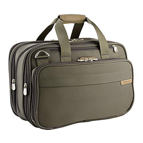 Briggs & Riley Baseline-Expandable Cabin Bag, Olive, One Size,231x-7