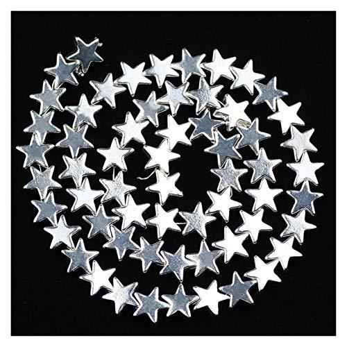 HETHYAN 4/6/8 mm de Oro, en Forma de Estrella platea Granos Flojos del Espaciador de Piedra Natural de hematita for la joyería Que hacía 15 '' Collar de Las Pulseras de Bricolaje