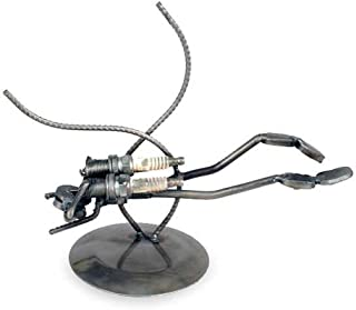 """NOVICA Recycled Auto Parts Diving Theme Iron Sculpture, 7.75"""" Tall, 'Rustic Scuba Diver'"""