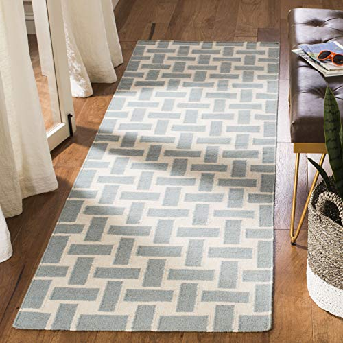 Safavieh Dhurries Collection DHU201A Handmade Flatweave Premium Wool Runner, 2