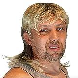 HandinHandCreations Mullet Tiger King Joe Exotic Wig for Men 70s 80s Costume Hippie Free American...