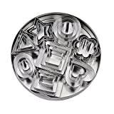 Biscuit Cookie Cutters Set- 24 Pieces Small Assorted Size Stainless Steel Plain Edge