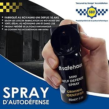 SAFEHAUS Bombe Anti Agression Auto Defense pour Marquer Criminels