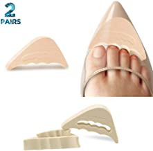 VIEEL 2 Pairs Soft Sponge Big Toe Plug Foot Brace Pads Adjustable Shoe Filler Unisex Shoe Inserts for Men & Women, Pumps, Flats, Sneakers (Beige)