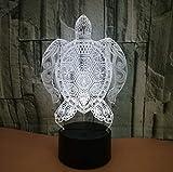 Schildkröte 3D Nachtlicht 3D Led Lampe 3D Optische Täuschung Lichter 7 Farbe Mehrfarbige USB Dekoration Farbe Veränderbar Lampe Für Jungen