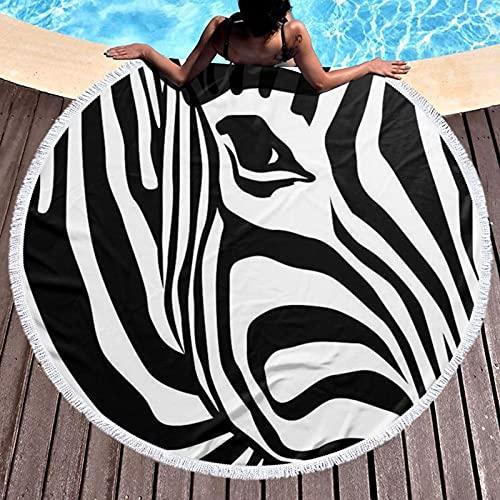 Blue Sailfish - Toalla de playa redonda impresa para yoga, picnic, mantel redondo, ultra suave, súper absorbente de agua, toalla de rizo con borlas