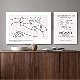 MKWDBBNM Línea de Arte Dibujo Cartel Abstracto Minimalista Pared Arte Lienzo impresión Famosa Pintura Moderna Imagen Decorativa 30x50cm 50x70cm sin Marco
