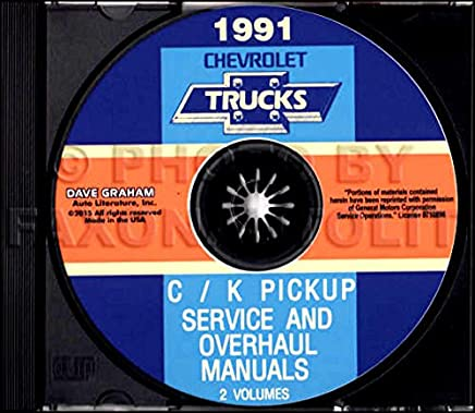 fully illustrated 1991 chevrolet truck & pickup factory repair shop &  service manual cd includes c