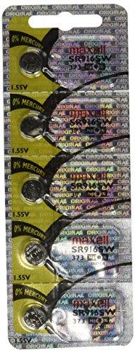 5pk Maxell SR916SW SR68sr916373Pila de reloj de óxido de plata
