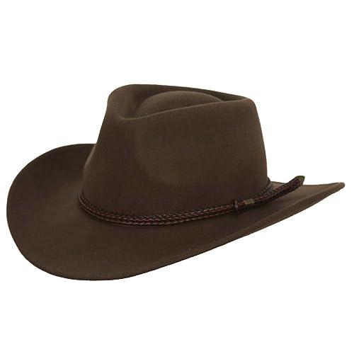 b9544cdcb8d Broken Hill Crushable Australian Wool Hat - 1392 Brown