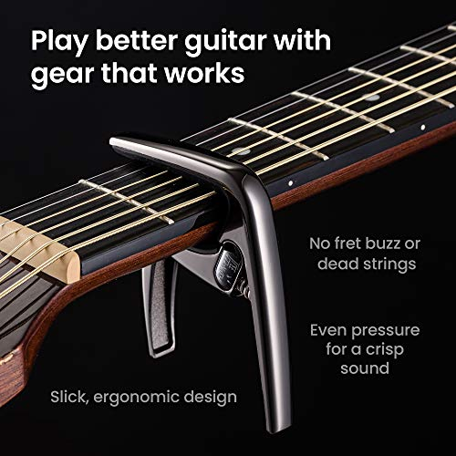 Guitar Capo for Acoustic Guitars, Electric Guitars. Play Better Sounding Guitar, Sing in Tune, be you with a Stylish Guitar Capo. Guitar in Style