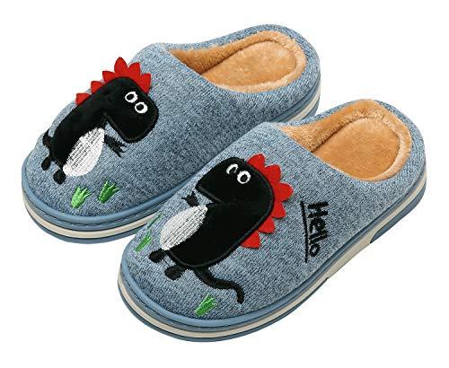 pantofole bambino dinosauro INMINPIN Inverno Pantofole da Casa Bambini Caldo Peluche Pantofola da Invernali Carino Dinosauro Comode Ciabatte Interne di Cotone per Ragazze Ragazzi