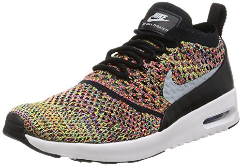 Nike Wmn Air Max Thea Ultra FK Multi Blk, BRIGHT CRIMSON/WOLF GREY-BLACK, 5 UK