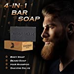 Bossman Men's Bar Soap 4 in 1 Beard Wash, Shampoo, Body Wash and Conditioner, 4 oz 4