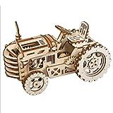 YVSoo Maquette Voiture Maquette Tracteur en Bois Puzzle 3D Maquette Coloré Casse Tête de 3D Puzzle Jeu de Construction