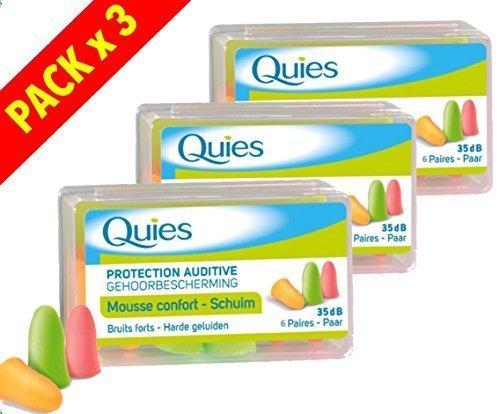 Quies - Protection Auditive en Mousse - Lot de 3 x 6 Paires by QuiesÂ
