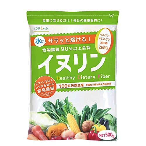LOHAStyle イヌリン サラッと溶ける即溶顆粒 (500g) オランダ産 チコリ由来 (水溶性食物繊維 Non-GMO) 菊芋と同組成 イヌリアⓇ