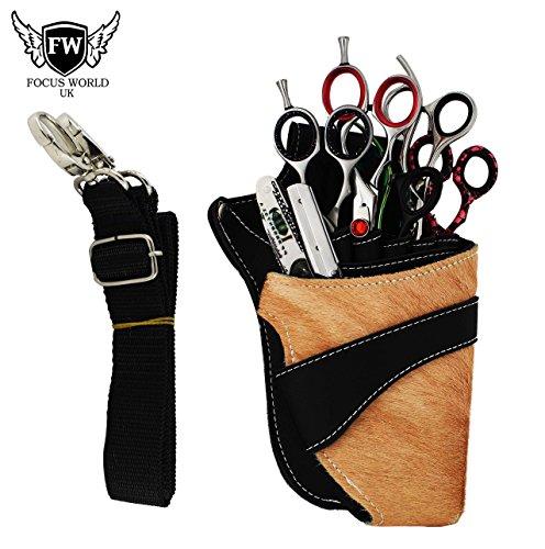 Holster - Tijeras de peluquería (bolsa, cinturón, piel de alta calidad)