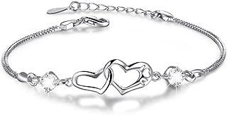 Best heart bracelet silver Reviews