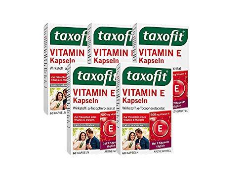taxofit® Vitamin E Kapseln zur Prävention eines Vitamin-E-Mangel (1x 60 Kapseln)