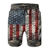 JH SPEED Mens Swim Trunks Digital Camo Patriotic American Flag Quick Dry Beach Shorts with Pockets Mesh Lining