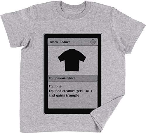 Vendax Mágico Tarjeta Niños Chicos Chicas Unisexo Camiseta Gris