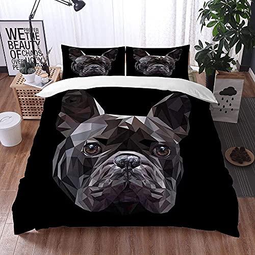 Lyyeaz Juego de ropa de cama, funda de edredón de microfibra, 200 x 200 cm, con 2 fundas de almohada de 50 x 80 cm