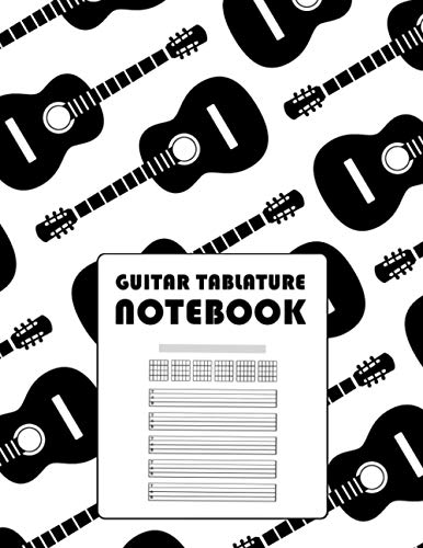 Guitar Tablature Notebook: Blank Musical Manuscript Paper with Chords Charts 110 Pages - Guitar Design
